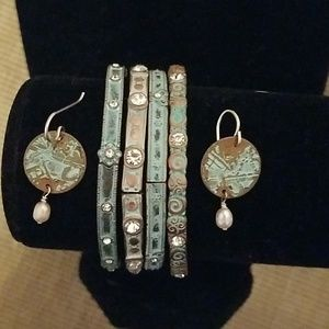 Jewelry - 4 Bracelets with Matching Earrings